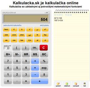 Kalkulace online